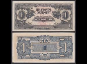 Malaya - Malaysia 1 Dollar (1942) Japanese Government MO Pick M5c XF (2) (21204
