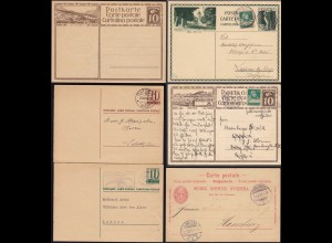 Schweiz-Switzerland 6 Stück Ganzsachen POSTAL STATIONARY (23760