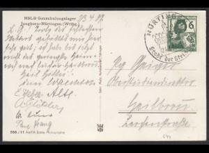 AK NSLB Gauschulungslager Jungborn-Nürtingen 1937 (27303