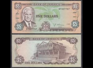 JAMAIKA - JAMAICA 5 Dollars Banknote 1991 Pick 70d VF+ (3+) (27322