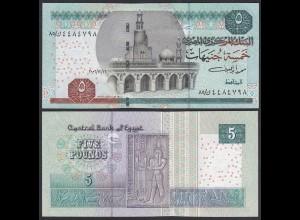 Ägypten - Egypt 5 Pound Banknote 2002 Pick 63a UNC (1) (27283