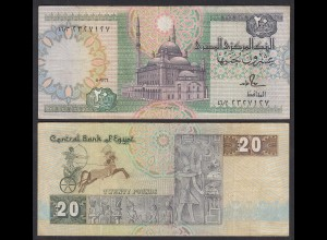 Ägypten - Egypt 20 Pound Banknote 1978-92 Pick 52b VF (3) (27284