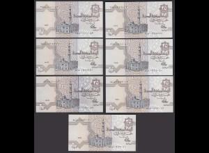 Ägypten - Egypt 7 Stück á 25 Piaster Pick 49 aUNC/UNC (1/1-) (27293