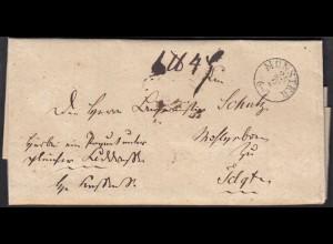 Vorphila Brief 1838 MÜNSTER K1 an Bürgermeister Schulz TELGTE (27331