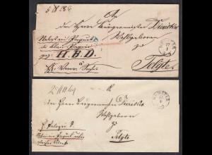 2 Stück Paketbegleitbriefe MÜNSTER K1 an den Bürgermeister zu TELGTE (27334