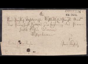 OPPELN L2 Schlesien Brief 1828 mit umfangreichen Inhalt (27344