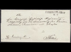FERDINANDSHOF L2 ca. 1825 Umschlag nach STETTIN (27345