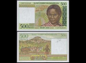 MADAGASKAR - MADAGASCAR 500 Francs (1994) Pick 75b Serie C UNC (1) (14372