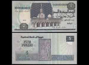 Agypten - Egypt 5 Pound 1989-2001 Pick 59b sig.19 XF (2) (14346