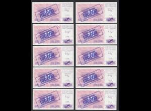 BOSNIA - HERZEGOVINA - 10 Stück á 100-tausend Dinara 1.IX.1993 Pick 34a UNC (1)