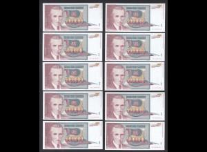 JUGOSLAWIEN - YUGOSLAVIA 10 Stück á 5 Millionen Dinara 1993 Pick 121 UNC (1)