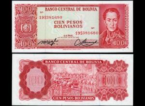 Bolivien - Bolivia 100 Bolivianos 1962 UNC (1) Pick 164A (14300