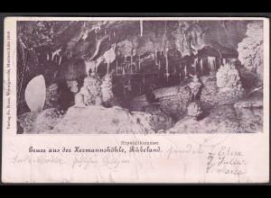 AK Krystallkammer Rübeland Hermannshöhle 1901 AK-Stempel Leipzig L13 b !! (27420