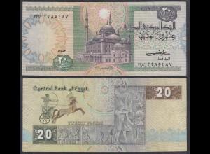 Ägypten - Egypt 20 Pound Banknote 1978-92 Pick 52a VF (3) (27426