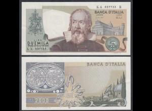 Italien - Italy 2000 Lire Galileo Galilei 1973 Pick 103a XF (2) (27437