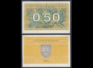 LITAUEN - LITHUANIA - 0,50 TALONAS 1991 PICK 31a XF (2) (27441