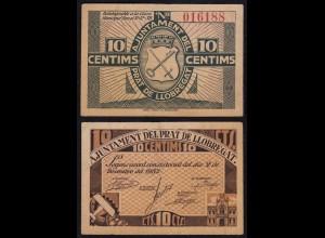 Spanien - Spain 10 Centimos Lobregat Legons-Abkommen 1937 XF (2) (17559
