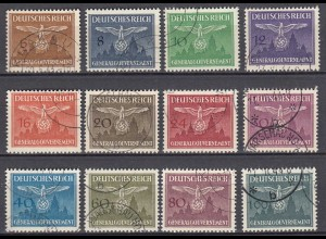 Germany/Generalgouvernement POLAND OCCUPATION 1943 Mi D25/36 official set used