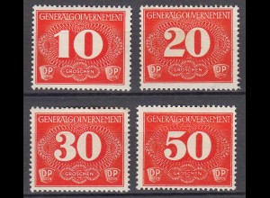 Germany/Generalgouvernement POLAND OCCUPATION 1940 Mi Z1-4 Delivery stamps MH