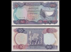 Irak - Iraq 10 Dinar Banknote 1973 Pick 65 sig.17 AU (1-) (27496