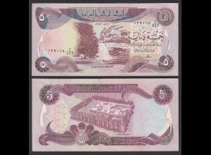 Irak - Iraq 5 Dinar Banknote 1980/1 Pick 70a sig.21 XF (2) (27497
