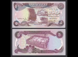 Irak - Iraq 5 Dinar Banknote 1980/1 Pick 70a sig.21 AU (1-) (27498