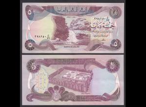 Irak - Iraq 5 Dinar Banknote 1980/1 Pick 70a sig.21 XF (2) (27499
