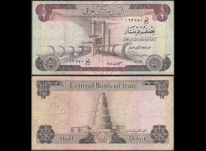 Irak - Iraq 1/2 Dinar Banknote 1973 Pick 25 F/VF (3/4) (27503