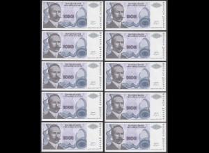 BOSNIA - HERZEGOVINA 10 Stück á 1 Millionen Dinara 1993 Pick 152a UNC (1) (89168