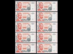 BOSNIA - HERZEGOVINA 10 Stück á 5-Millionen Dinara 1993 Pick 153 UNC (1) (89172