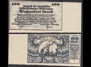 Wilhelmshaven-Rüstringen 100 Mark 1922 Notgeld Randstück (27559