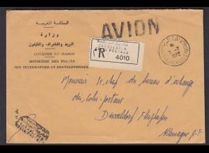 Marokko - Morocco 1972 Post R-Brief CASABLANCA nach DÜSSELDORF (26059