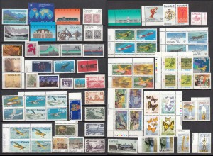 Kanada - Canada postfrisch tolles Lot meist nur versch. Briefmarken (27628