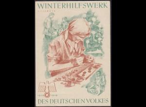 WHW Propaganda Tür Aufkleber Vignette DEZEMBER 1938/39 DES DEUTSCHEN VOLKES
