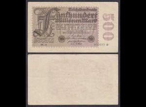 500 Millionen Mark 1923 Ro 109f FZ: BK BZ: 24 Starnote 060099 VF (3) (27367