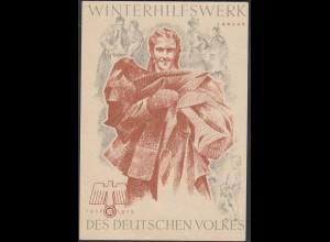 WHW Propaganda Tür Aufkleber Vignette JANUAR 1938/39 DES DEUTSCHEN VOLKES
