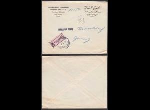 Libanon 1972 Post R-Brief nach BUREAU DE POSTE DÜSSELDORF (26071