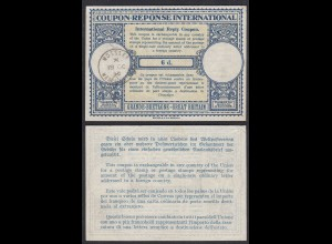 GREAT BRITAIN UK International Reply Coupon 6 d. MOSSLEY (27651