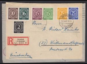 R-Brief 1947 Reinbeck Bez.Hamburg nach Wittmund Alliierte Bezatzung (27665