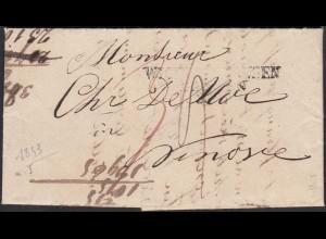 Wichlinghausen Barmen L3 1843 nach NINOVE BELGIEN mit Inhalt selten (27340