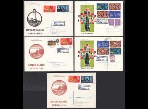 5 pieces R-Cover Sanda, Jethou + Davaar Islands 1964 Opportunity (27692