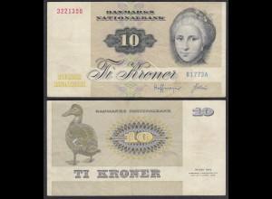 DÄNEMARK - DENMARK 10 KRONOR 1977-78 VF Pick 48c (27676
