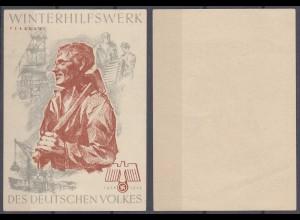 WHW Propaganda Tür Aufkleber Vignette FEBRUAR 1938/39 DES DEUTSCHEN VOLKES
