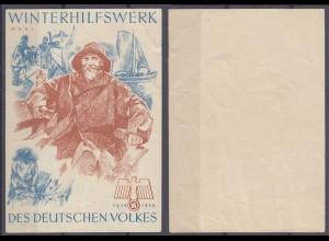 WHW Propaganda Tür Aufkleber Vignette MÄRZ 1938/39 DES DEUTSCHEN VOLKES