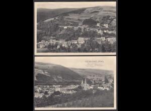 AK Gemünd Eifel Gesamtansicht Doppelkarte Mitte geteilt (27721