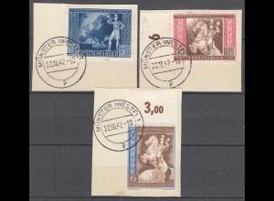 Deutsches Reich 3.Reich 1942 Michel 820-22 Briefstück gestempelt (27809