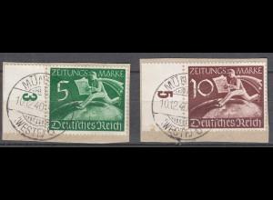 Deutsches Reich 3.Reich 1939 Michel Z738-39 Briefstück gestempelt (27810