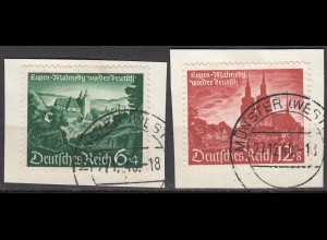 Deutsches Reich 3.Reich 1940 Michel 748-49 Briefstück gestempelt (27812