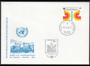 UNO WIEN VIENNA 1980 Waldshut Exhibition Cover 30.5 1980 (87128