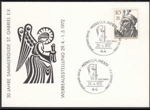 Münster Westfalen 1972 Karte mit SST 30 Jahre Sammlergilde St.Gabriel (87130